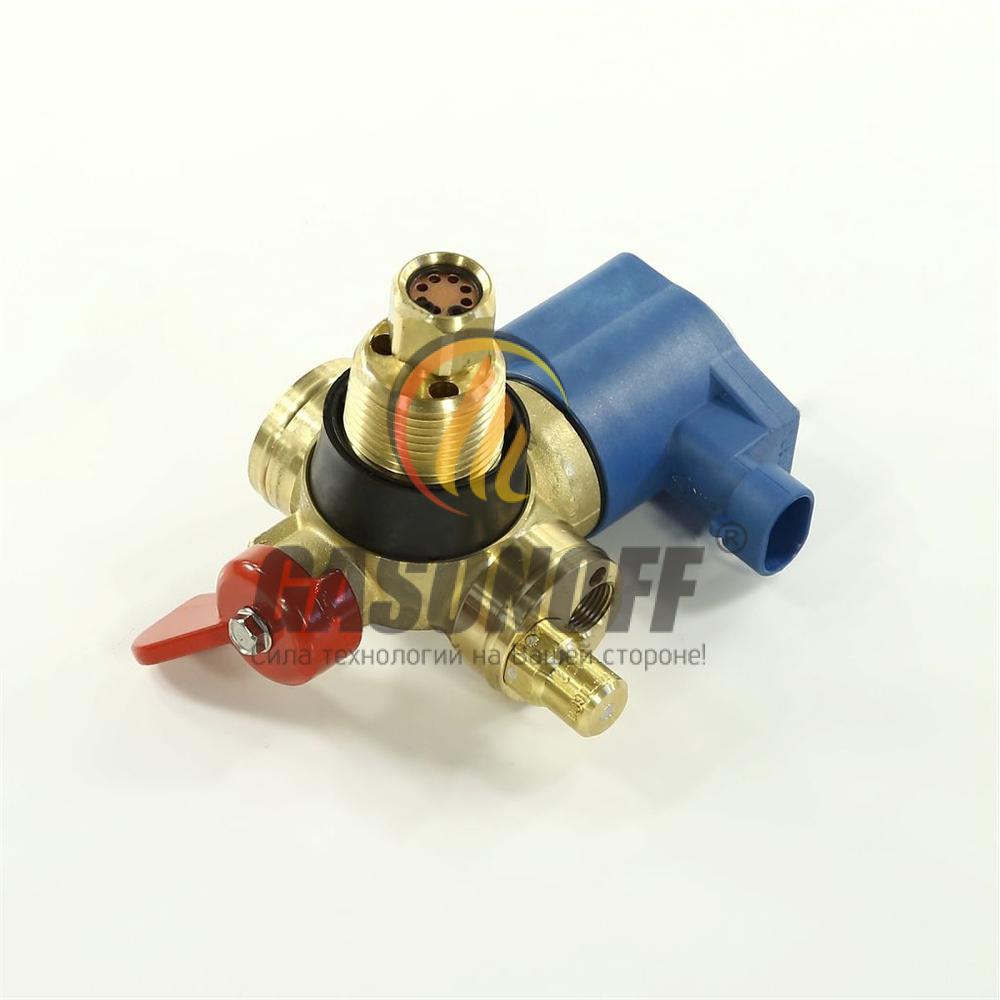 Вентиль метан BRC балонный с ЭМК + взрывной клапан ГБО
