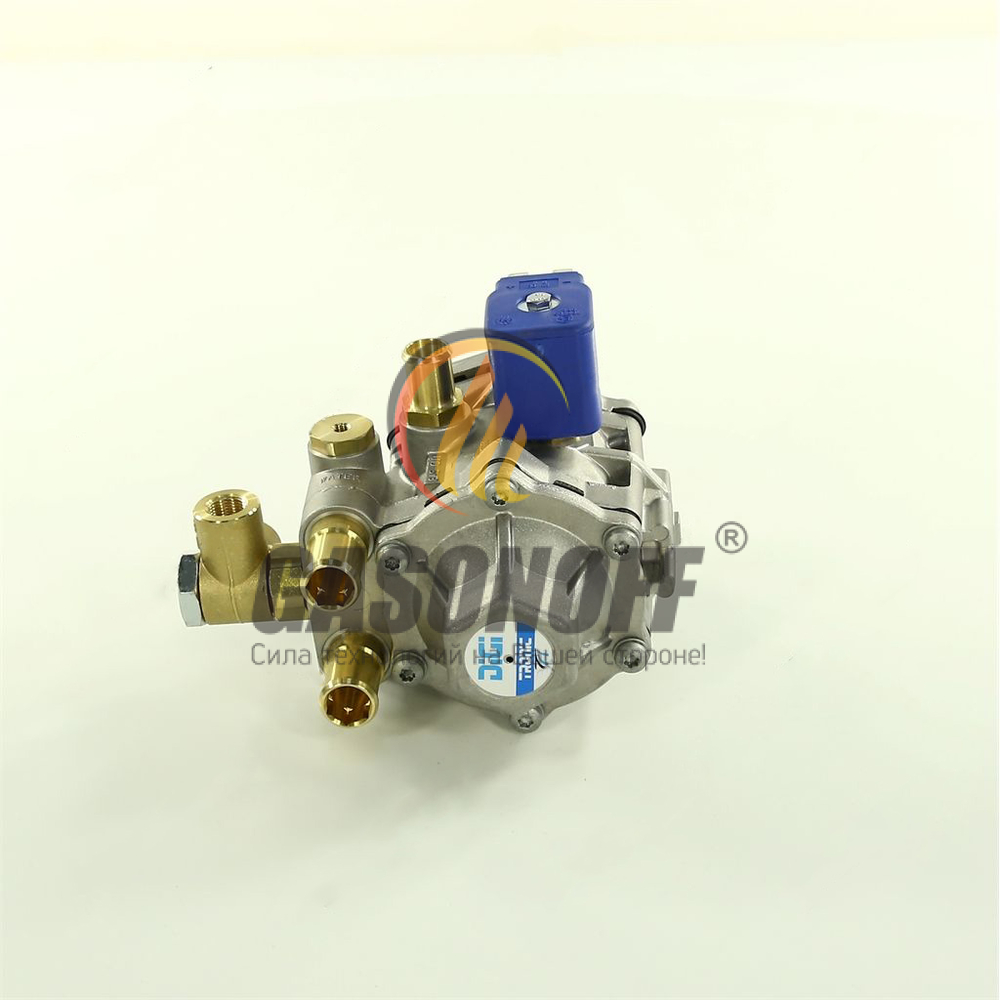Редуктор впрыск метан TOMASETTO AT-12 125 кВт Выход 14мм Тосол 16мм ГБО