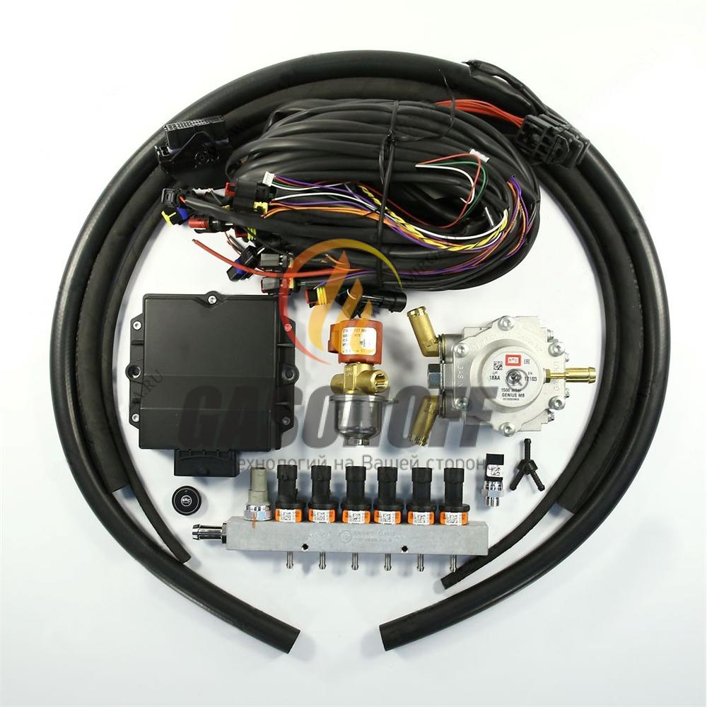 Впрыск 6 цил рядный BRC PD 120 до 140 кв (оранжевые) PLUS без фильтра 1500 ГБО